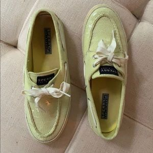 Sperry Lime Green Sequin Topsiders